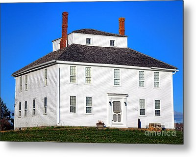 Colonial Pemaquid Fort House Metal Print