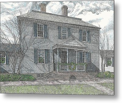 Colonial Williamsburg's Carter House Metal Print by Stephany Elsworth