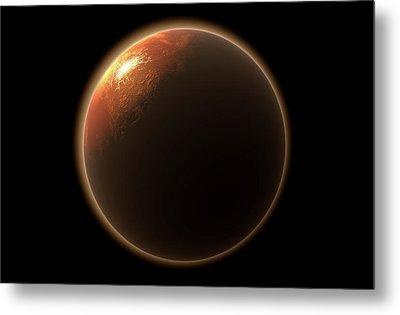 Colonization Of Mars Metal Print by Allan Swart