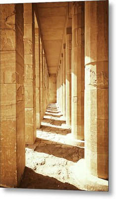 Colonnade At The Temple Of Queen Hatshepsut In Egypt Metal Print by Jaroslav Frank