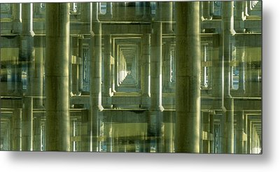 Colonnade Park Seattle Metal Print by Tim Allen