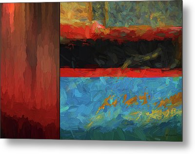 Color Abstraction Lxi Metal Print by David Gordon
