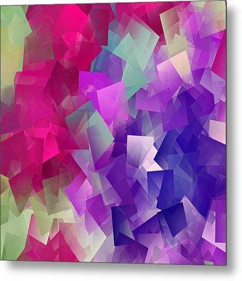 Color Block - Purples Metal Print by Marianna Mills