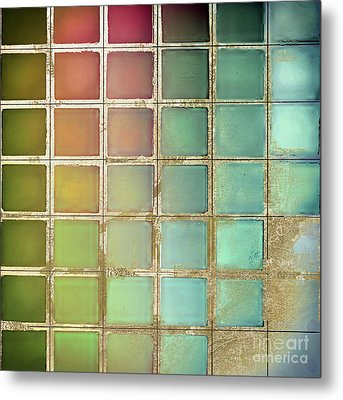 Color Chart Olives And Greens Metal Print by Mindy Sommers