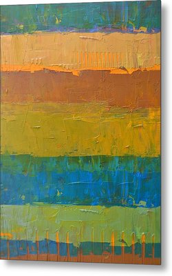 Color Collage Three Metal Print by Michelle Calkins