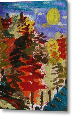 Color Forest Metal Print by Mary Carol Williams