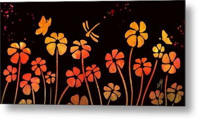 Color Game Series Orange Metal Print by Veronica Minozzi