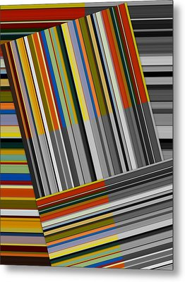 Metal Print featuring the digital art Color In Black And White by Michelle Calkins