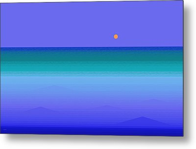 Metal Print featuring the digital art Color Of Water by Val Arie