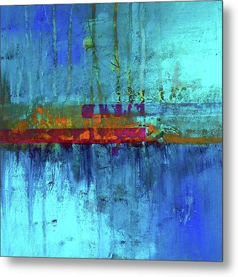Metal Print featuring the painting Color Pond by Nancy Merkle