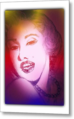 Color Rendition Of Marilyn Monroe #2 Metal Print