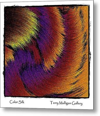 Color Silk Metal Print by Terry Mulligan