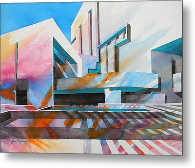 Metal Print featuring the painting Color Simphony by J- J- Espinoza