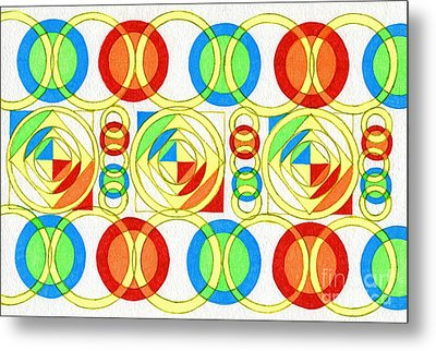 Color Space Metal Print by Norma Appleton