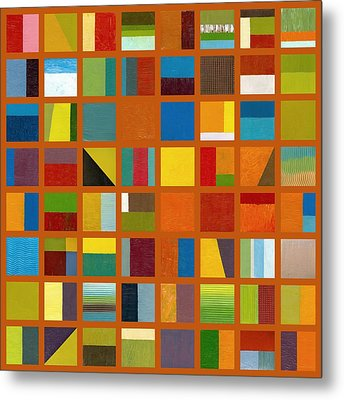 Color Study Collage 66 Metal Print by Michelle Calkins