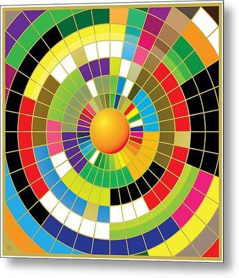 Color Wheel Metal Print by Gary Grayson
