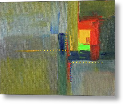 Metal Print featuring the painting Color Window Abstract by Nancy Merkle