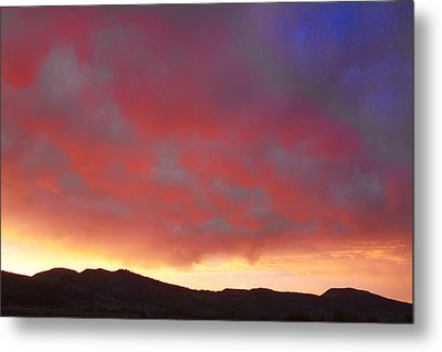 Colorado Front Range Rocky Mountains Foothills Sunset Metal Print by James BO  Insogna