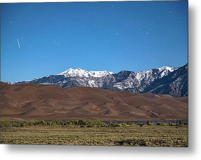 Colorado Great Sand Dunes With Falling Star Metal Print by James BO Insogna