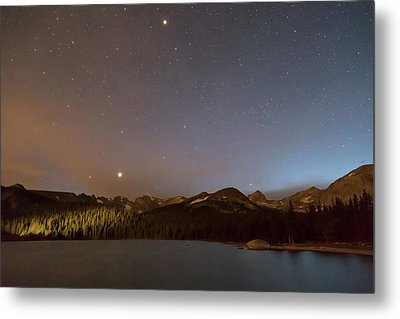 Metal Print featuring the photograph Colorado Indian Peaks Stellar Night by James BO Insogna