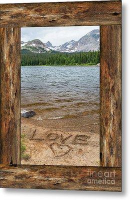 Colorado Love Window  Metal Print