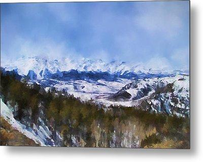 Colorado Mountains 3 Landscape Art By Jai Johnson Metal Print