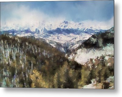 Colorado Mountains 4 Landscape Art By Jai Johnson Metal Print