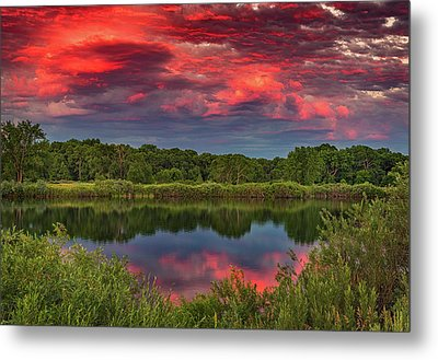 Colorado Ponds Sunset Metal Print