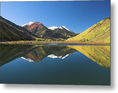 Colorado Reflections Metal Print by Steve Stuller