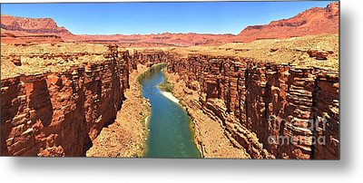 Colorado River Desert Landscape Metal Print by Adam Jewell