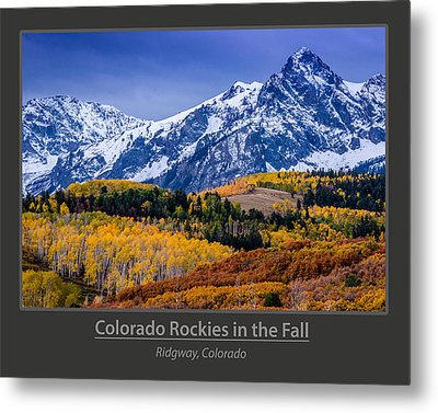 Colorado Rockies In The Fall - Ridgway Metal Print by Gary Whitton