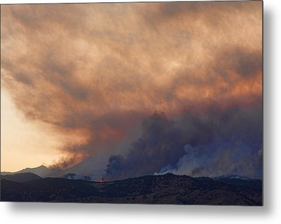Colorado Rockies On Fire Metal Print by James BO  Insogna