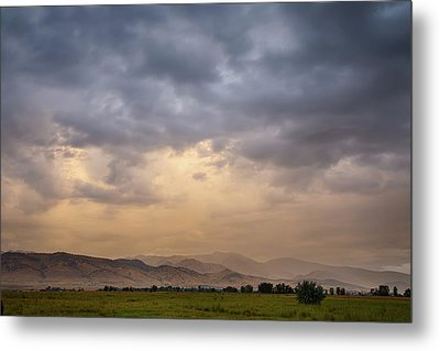 Metal Print featuring the photograph Colorado Rocky Mountain Foothills Storms by James BO Insogna
