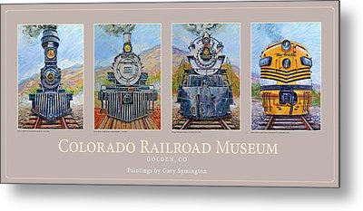 Colorado Rr Museum Quadtych Metal Print by Gary Symington