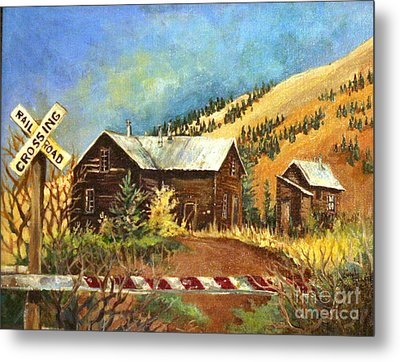 Colorado Shed Metal Print by Linda Shackelford