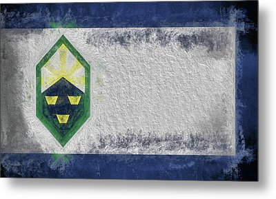 Metal Print featuring the digital art Colorado Springs City Flag by JC Findley