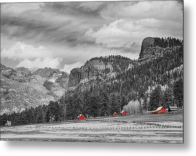 Colorado Western Landscape Red Barns Metal Print by James BO  Insogna