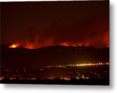 Colorado Wildfire Fourmile Canyon Aka Labor Day Fire Metal Print by James BO  Insogna