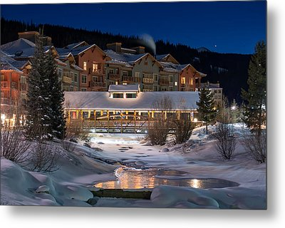 Colorado Winter Evening Metal Print by Michael J Bauer