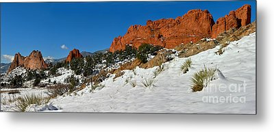 Metal Print featuring the photograph Colorado Winter Red Rock Garden by Adam Jewell