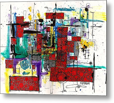Colored Chaos Metal Print