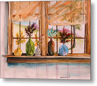 Colored Glass Metal Print by John Williams