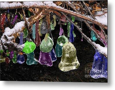 Colored Ice Bells Metal Print