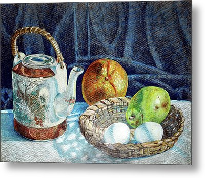 Colored Pencil Still Life No2 Metal Print by Stephen Boyle