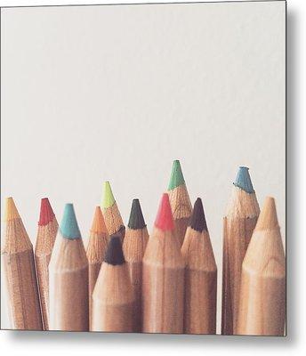 Colored Pencils Metal Print by Cortney Herron
