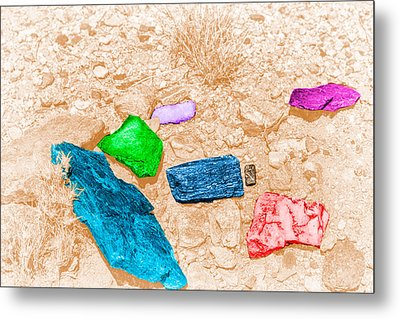 Colored Rocks 1 Metal Print by Bartz Johnson