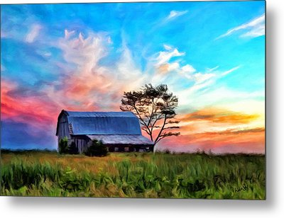 Colored Sunrise Metal Print
