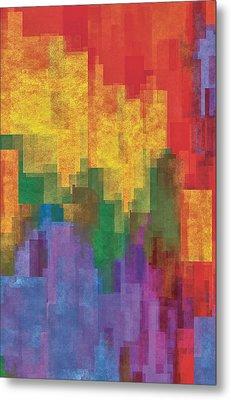 Coloredshapes Metal Print by Jack Zulli