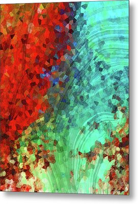 Colorful Abstract Art - Rejoice - Sharon Cummings Metal Print by Sharon Cummings