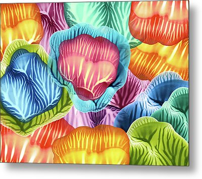 Colorful Abstract Flower Petals Metal Print by Amy Vangsgard